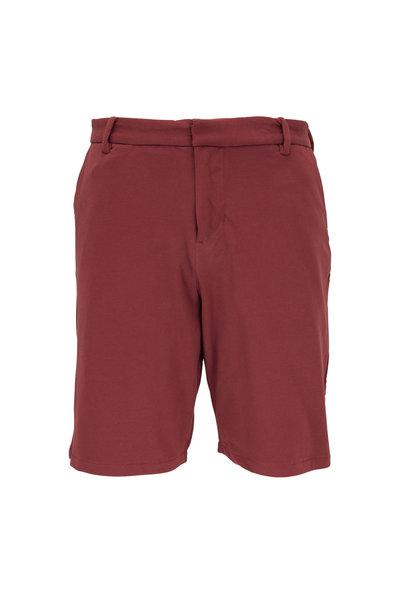 Swet Tailor - Burgundy Cotton Knit Everyday Shorts