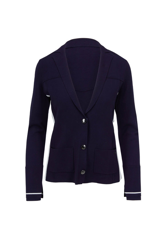 Bogner Nena Navy Three Button Knit Jacket