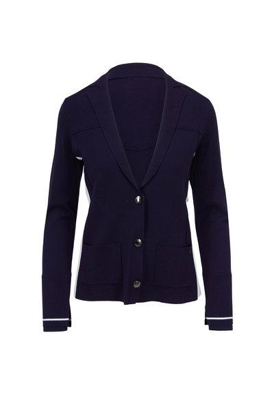 Bogner - Nena Navy Three Button Knit Jacket