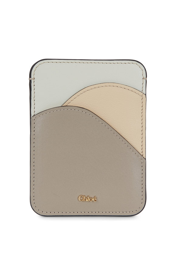 Chloé Pastel Gray Leather Card Case