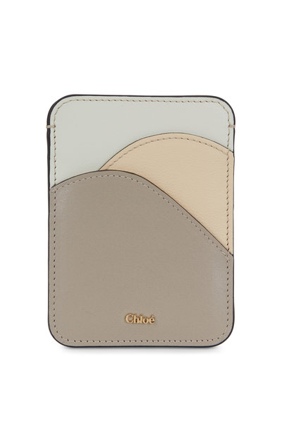 Chloé - Pastel Gray Leather Card Case
