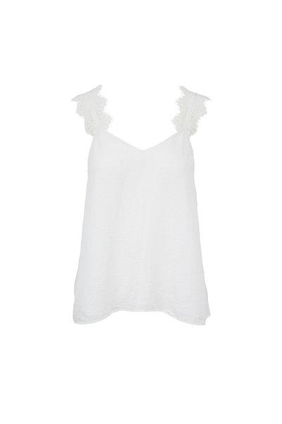 Cami NYC - The Chelsea Cloque White Lace Trim Cami