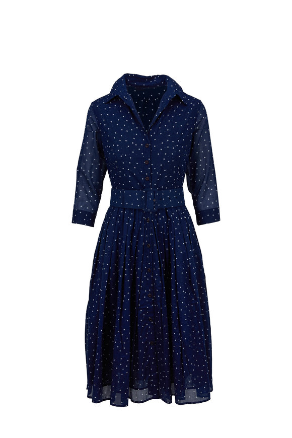 Samantha Sung Audrey 2 Admiral Blue Mini Star Belted Dress