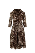 Samantha Sung - Audrey 1 Beige Safari Leopard Belted Dress
