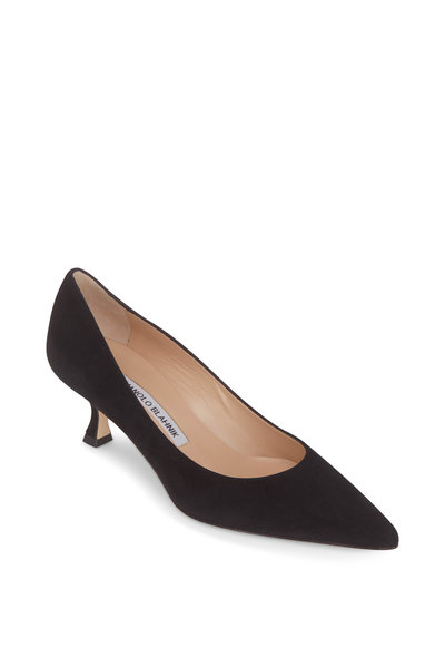 Manolo Blahnik - Srila Black Suede Pump, 50mm