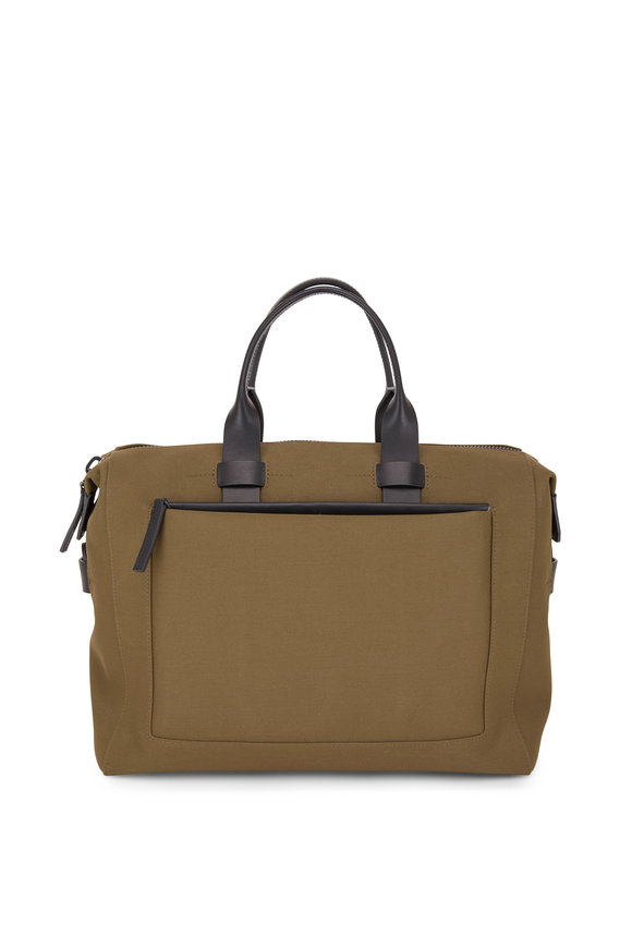 Troubadour 24 Hour Khaki Canvas Medium Carry-All Bag