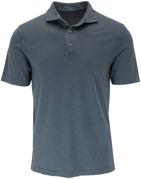 Fedeli Charcoal Dark Gray Polo