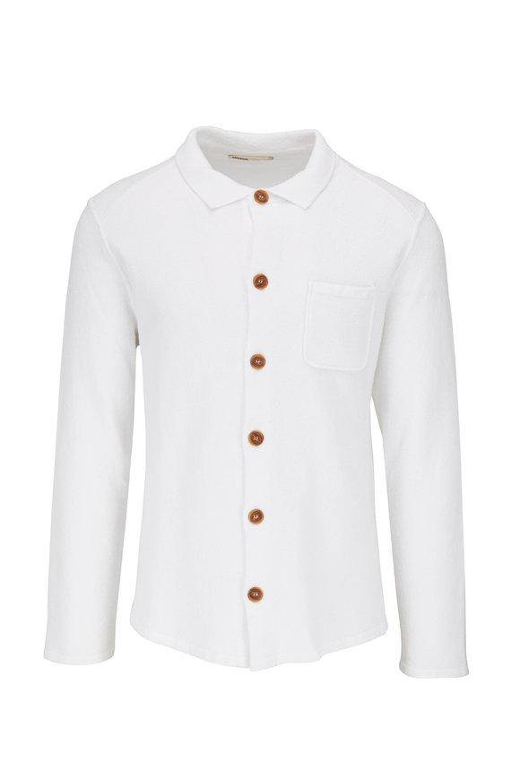 Maurizio Baldassari White Terry Button Front Shirt