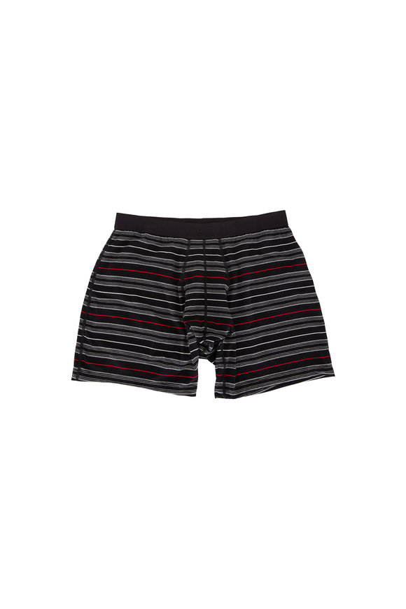 Saxx Underwear Platinum Black Tidal Striped Boxer Brief