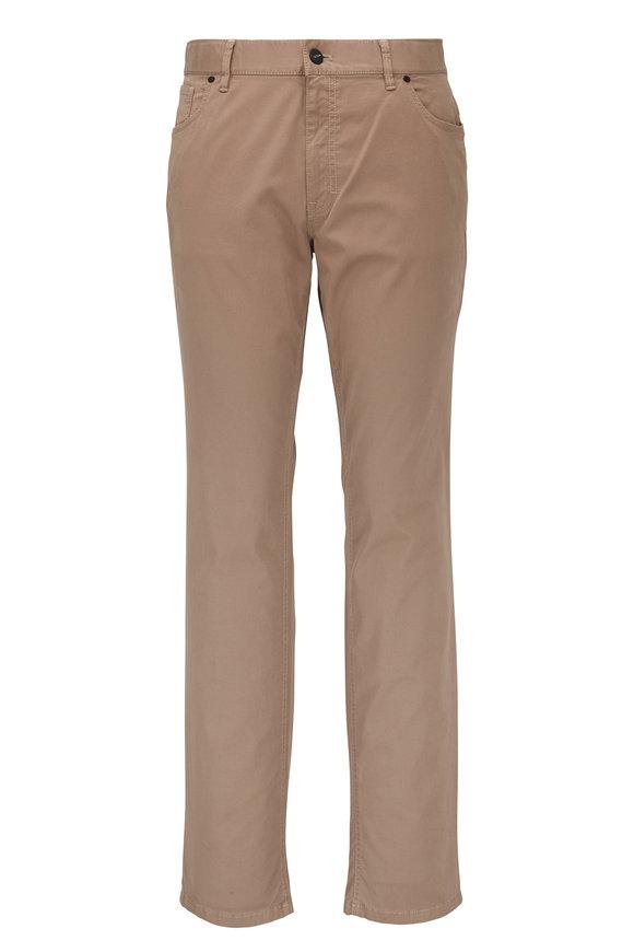 Hiltl Khaki Stretch Cotton Five Pocket Pant