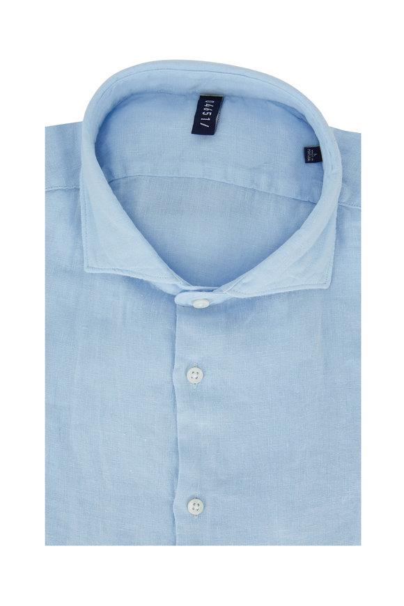 04651/ Sky Blue Linen Sportshirt