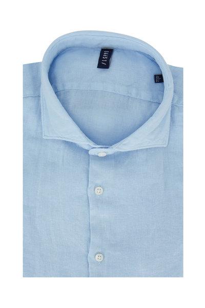 04651/ - Sky Blue Linen Sportshirt