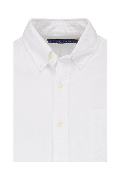 Polo Ralph Lauren - White Cotton Embroidered Pocket Sport Shirt