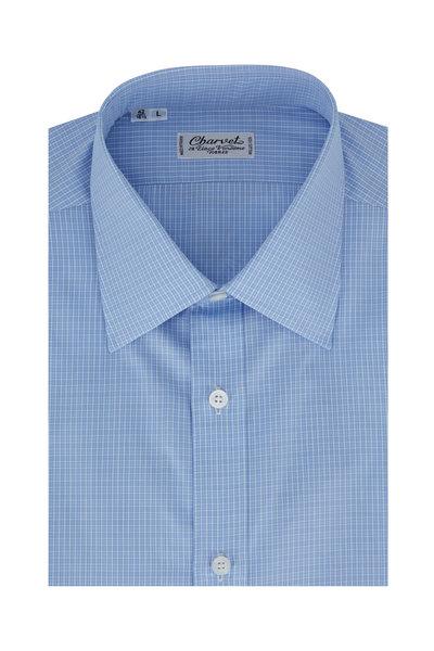 Charvet - Blue Tonal Check Dress Shirt