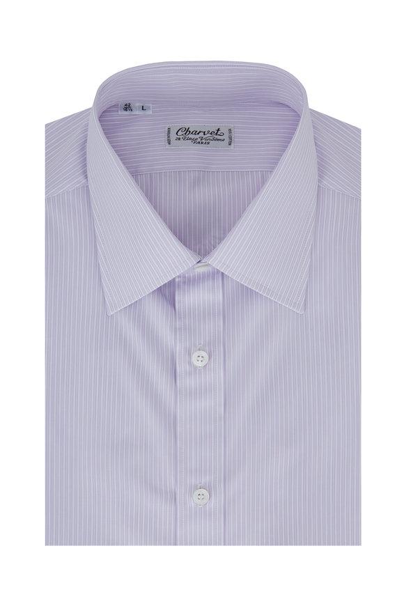 Charvet Lavender Striped Dress Shirt