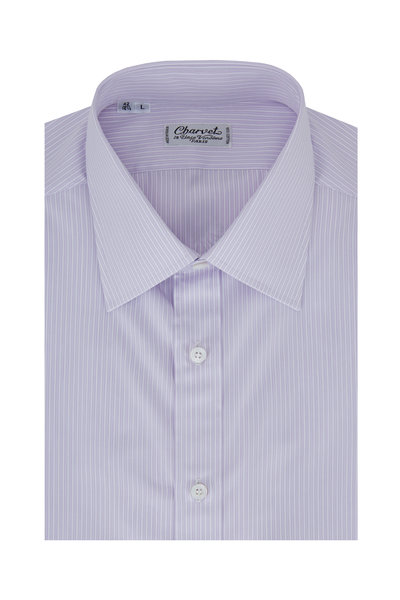 Charvet - Lavender Striped Dress Shirt