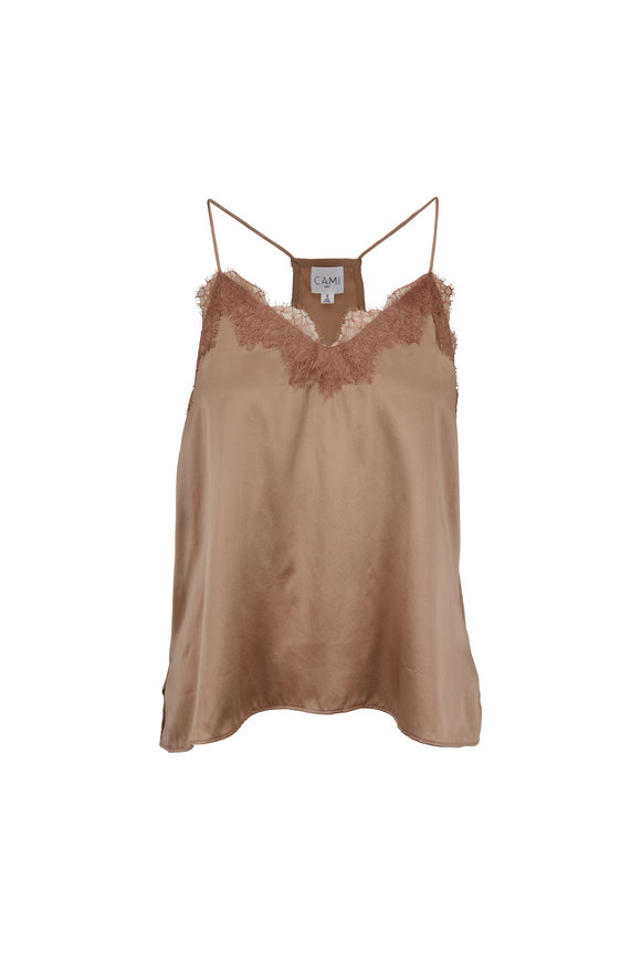 Cami NYC The Racer Latte Silk Cami
