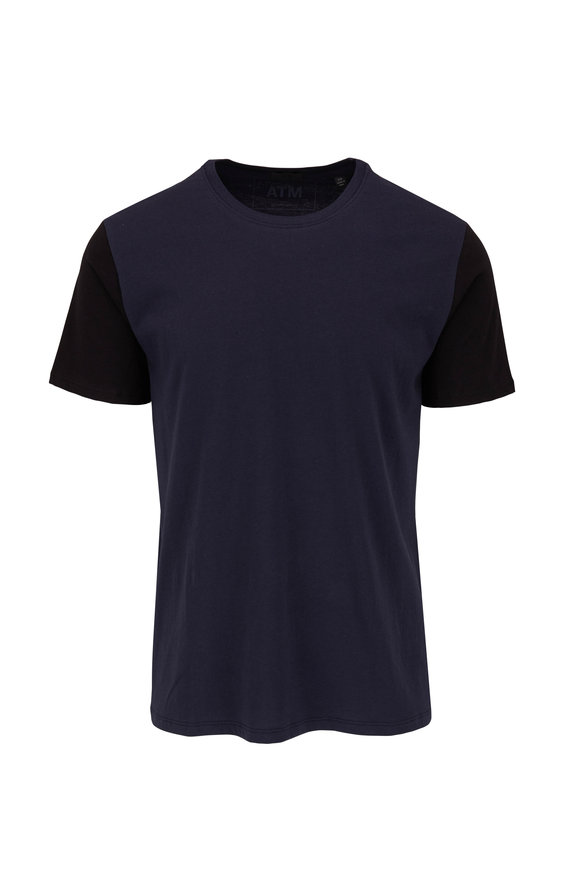 A T M Midnight & Black Colorblock T-Shirt