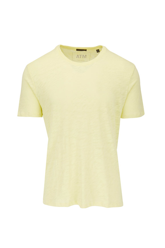 A T M Lemon Slub Cotton Jersey T-Shirt