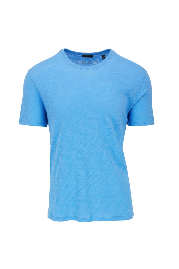 A T M Sky Blue Slub Cotton Jersey T-Shirt