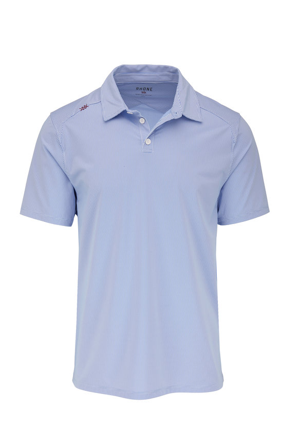 Rhone Apparel Commuter Blue Sport Polo