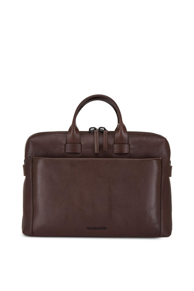 Troubadour - Generation Dark Brown Leather Slim Briefcase