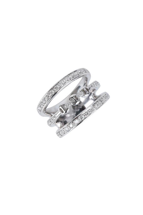 Hoorsenbuhs 18K White Gold Asset Diamond Ring