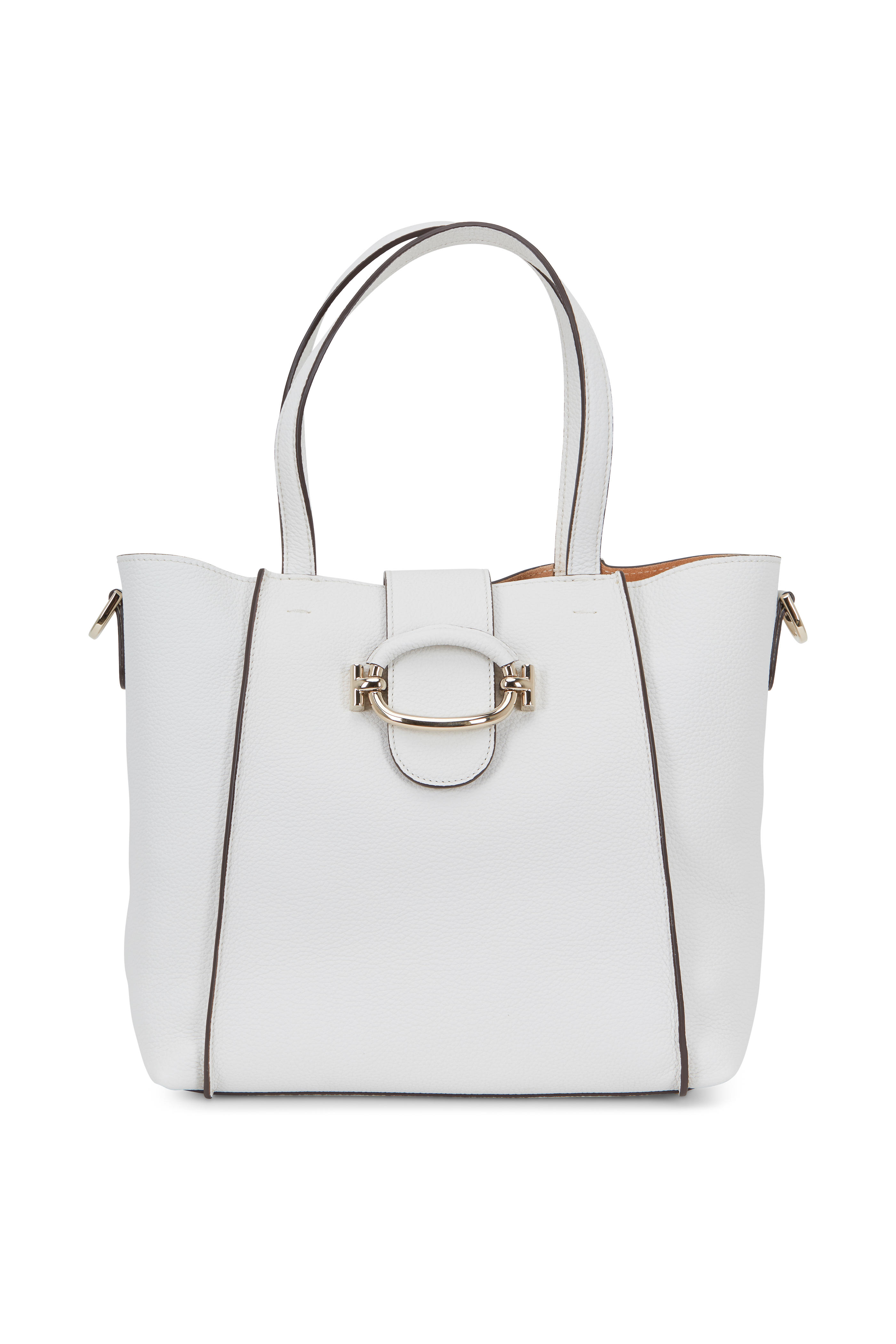 74be70862456 Tod s - White Grained Leather Small Bucket Bag