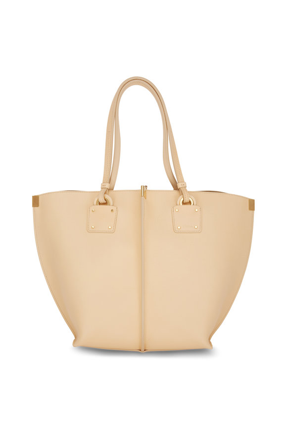Chloé Vick Blondie Beige Leather Medium Tote