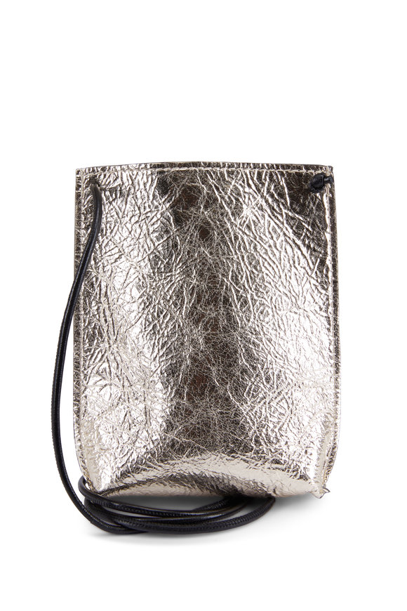 B May Bags Champagne Foil Leather Cell Pouch
