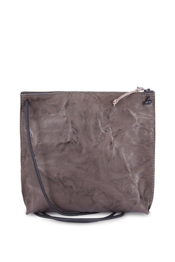 B May Bags Charcoal Rumpled Sheepskin Crossbody