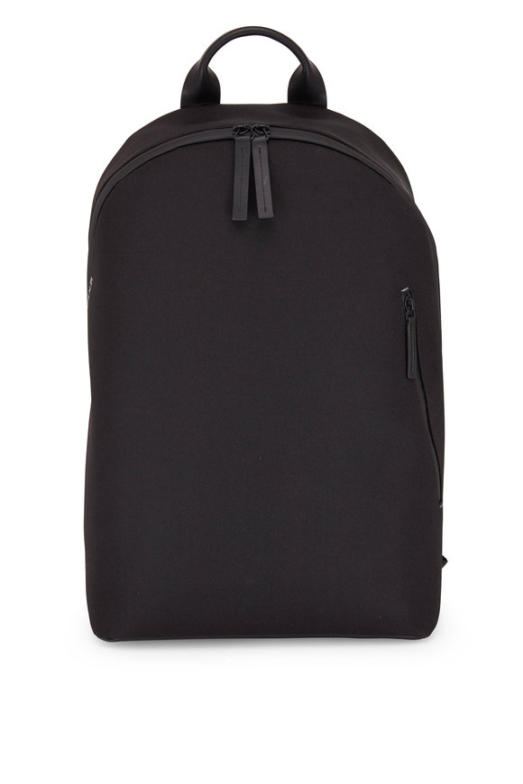 Troubadour Off Piste Black Weaved Nylon Rucksack