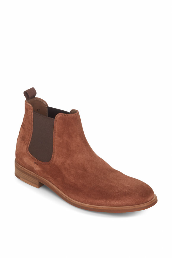 Brunello Cucinelli Chestnut Brown Suede Chelsea Boot