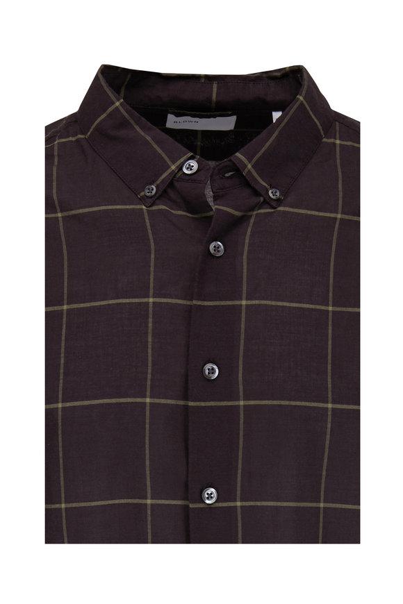 BLDWN Black & Olive Plaid Sport Shirt