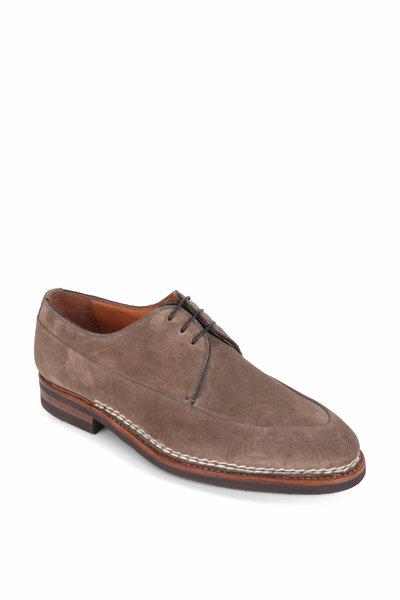Bontoni - Gray Suede Derby Dress Shoe
