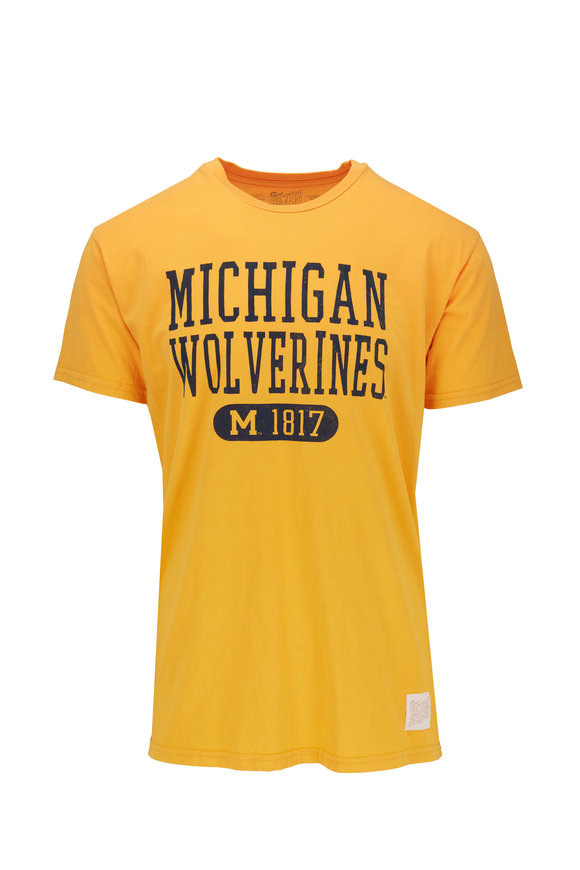 Retro Brand University Of Michigan Yellow T-Shirt