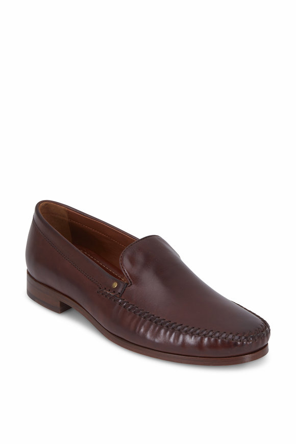 Trask Seth Brown Italian Leather Loafer