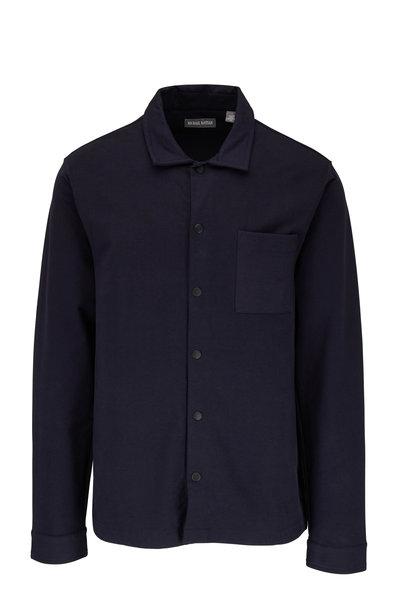 Michael Bastian - Navy Blue Stretch Cotton Overshirt