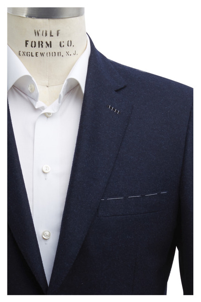 Brioni - Navy Blue Double Face Wool Sportcoat