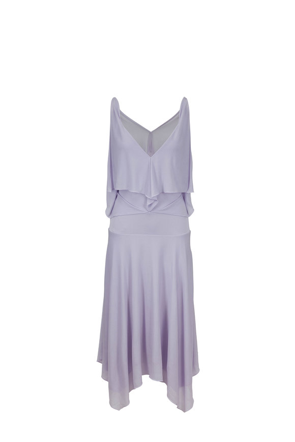 Tom Ford Lavender Double V Back Cut Out Dress