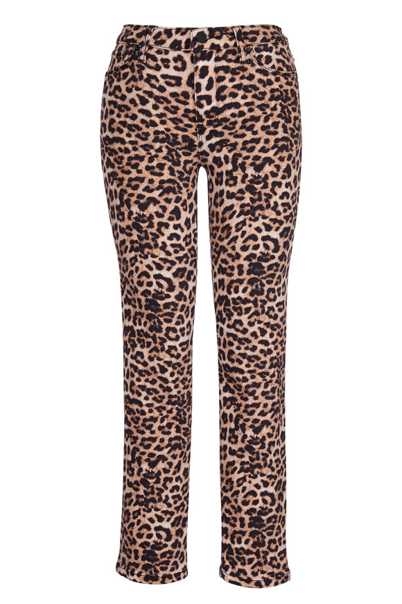 Hudson Clothing Nico Leopard Mid-Rise Jean