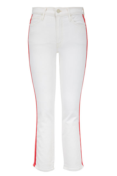 Mother Denim - The Mid-Rise Dazzler Off White Stripe Jean