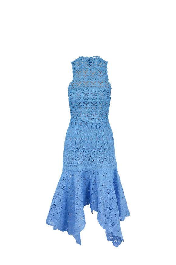 Jonathan Simkhai Sky Blue Crochet Lace Dress
