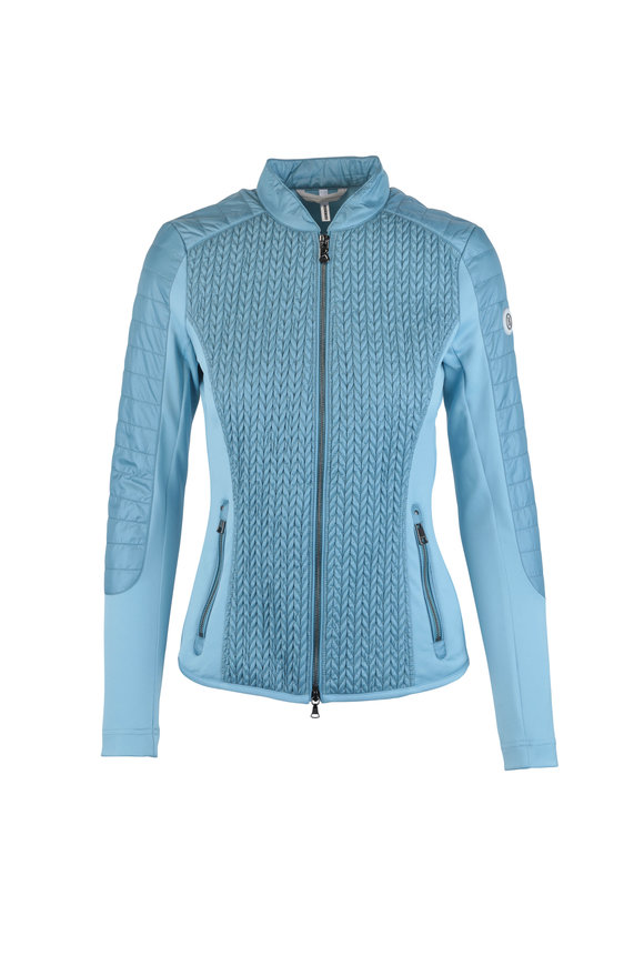 Bogner Mella Blue Textured Lightweight Nylon Jacket
