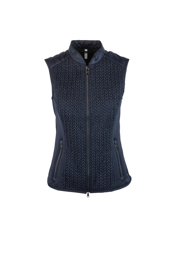Bogner Norini Navy Blue Textured Nylon Vest