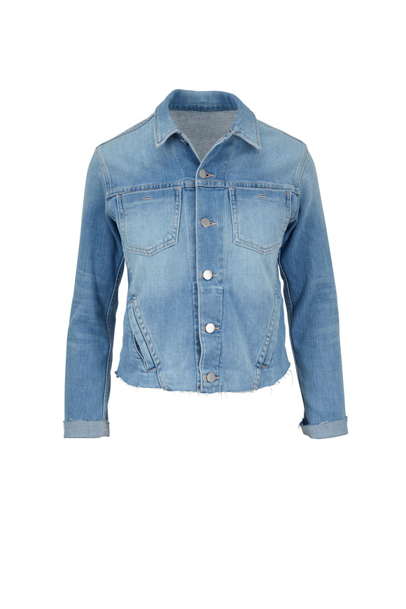 L'Agence Janelle Blue Cloud Denim Jacket