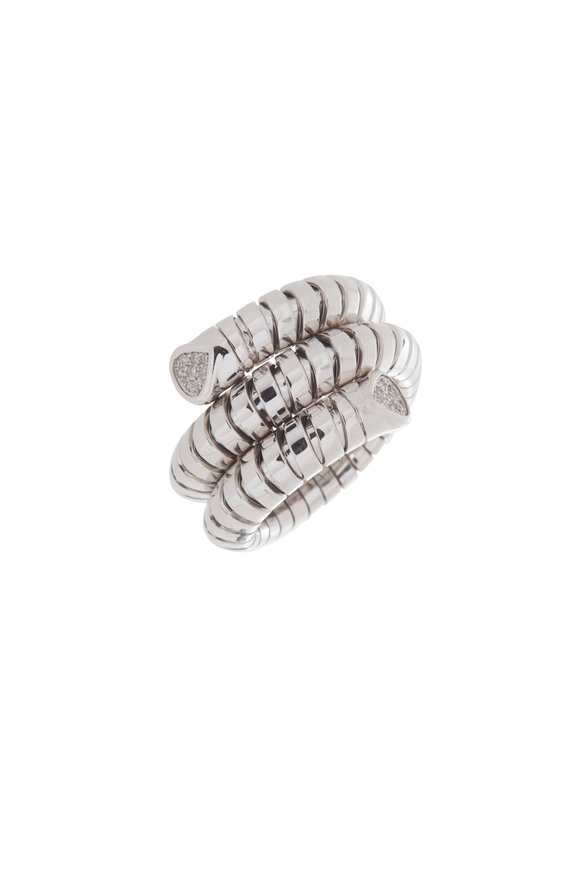 Marina B 18K White Gold Trisola Diamond Ring