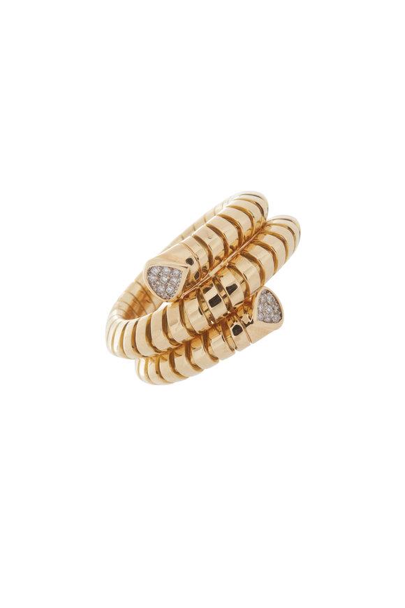 Marina B 18K Yellow Gold Trisola Diamond Ring