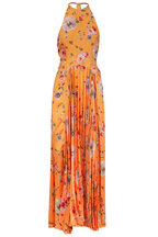 Galvan - Majorelle Yellow Floral Printed Gown