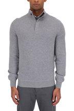 Ermenegildo Zegna - Gray Wool Waffle Knit Quarter-Zip Pullover